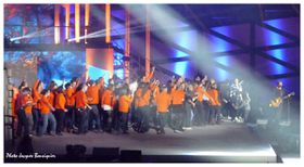 Les Enfoires 2012 techniciens sur scene 2