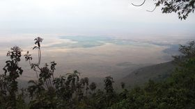 Vue panoramique du Ngorongoro 2