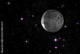 Nuit étoilée-Lune descendante