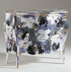 Shabby chic mobili artistici di castagnetti quadri da - Mobili colorati design ...