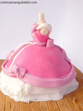 gateau robe de cendrillon