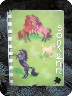 Scrap'Inès Carnet chevaux Horses notebook