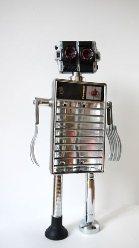 assemblage robot sculpture gille monte ruici