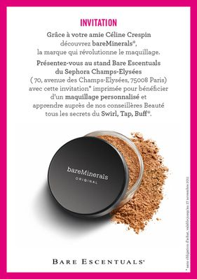 Invitation bareMinerals17
