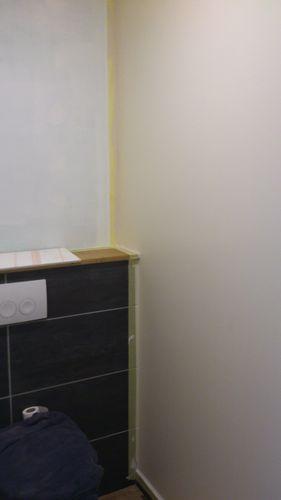 wc et couloir en lin renovation d 39 une fermette en bourgogne. Black Bedroom Furniture Sets. Home Design Ideas