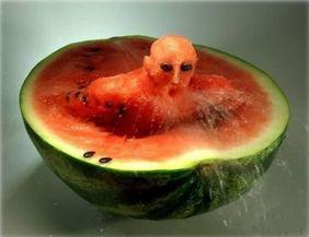 food-art - dessert - pasteque monstre
