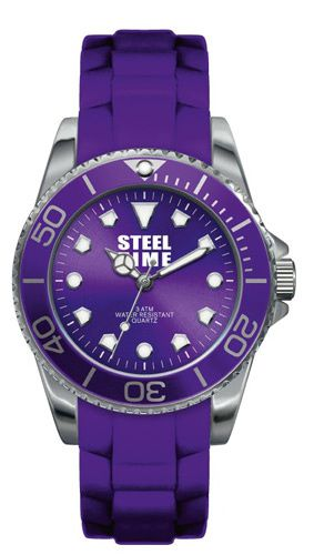 Montre-Steel-Time-violette