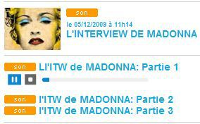 Download Madonna's interview on Fun Radio on Dec. 4, 2009