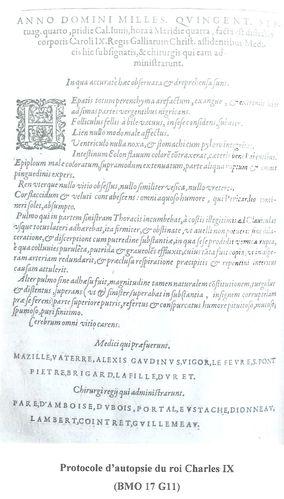 Jacques Guillemeau - Autopsie Charles IX