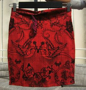 robe rouge oiseau