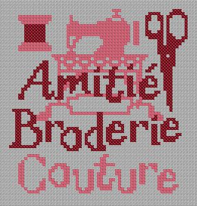amitié broderie couture