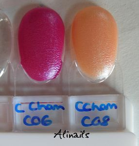 CAtrice Luxury LAcquers Chameleon swatches
