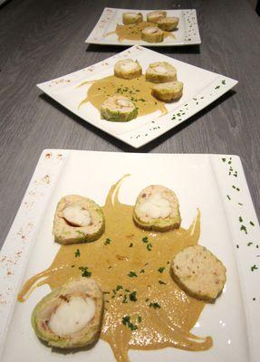 Boudin de langouste en feuille de chou frisé.25 12 2012