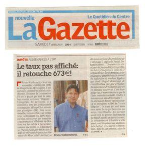 nouvelle gazette - centre 2009 03 07 additionnels communaux