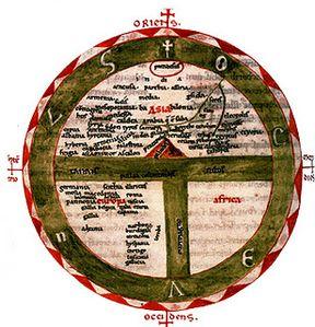 oekoumene - Etymologies d'Isidore de Séville (manuscrit du XIIe siècle)