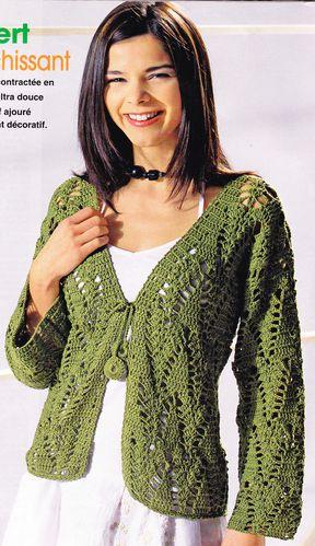 Tutoriel Crochet Gratuit Gilet Vert Decontracté Stella