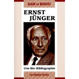 Benoist-De-Ernst-Junger-Une-Bio-Bibliographie-Livre-3966823