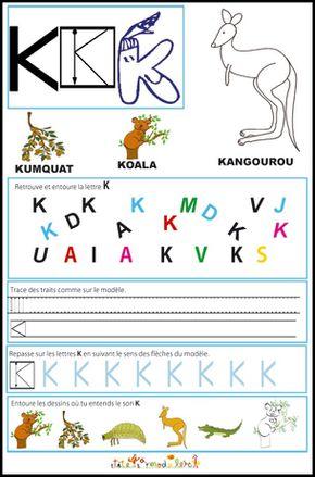 Page d'exercices enfants