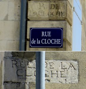 Cloche rue panneau