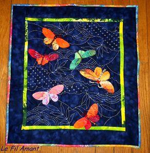 Papillons et sashiko S.Pippen