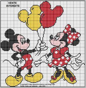 Mickey et Minnie ballon
