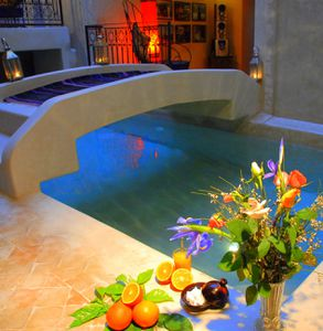 Tr s beau riad avec piscine chauff e hammam et salle de for Riad marrakech piscine chauffee