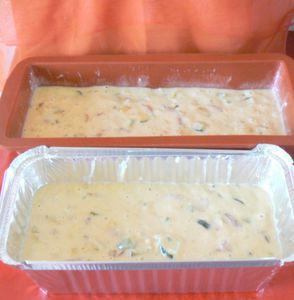 Cake de légumes pour apéro improvisé