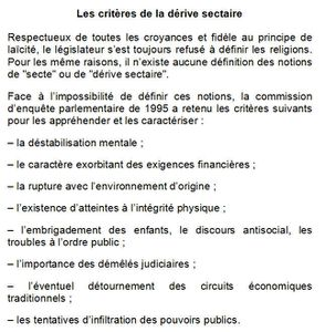 derive sectaire