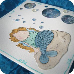 Scrap'Inès Carte Magnolia Sirène Mermaid Card (3)