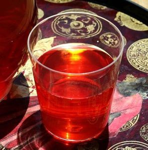 Un verre de karcadé