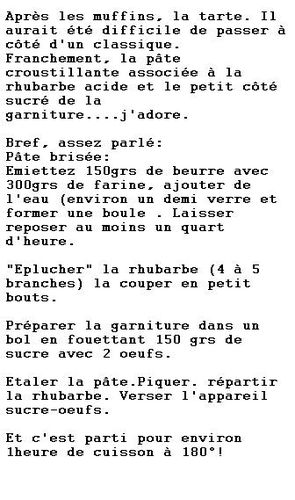 tarte explications