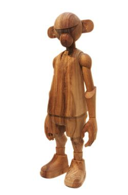 Pithecuse Statue Real Wood by CoolRain