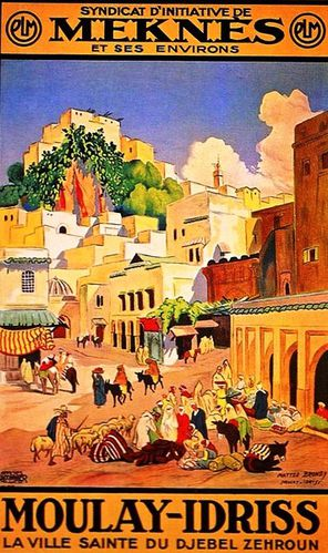 reproduction affiche ancienne meknes