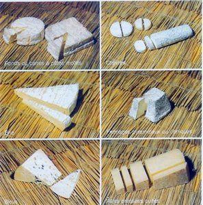 découpes de fromage