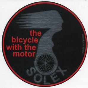 autocollant, Solex the bicycle with the motor