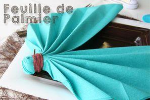 D couvrez de nombreux pliages de serviettes en vid o decoration mariage - Pliage de serviette en papier feuille ...