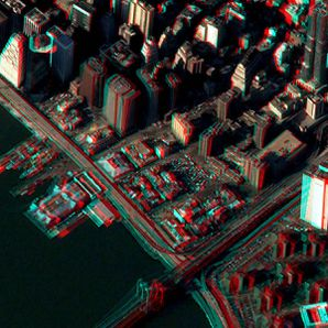 New York - Manhattan - Sud - Pléiades - 3D - Extrait - CNES
