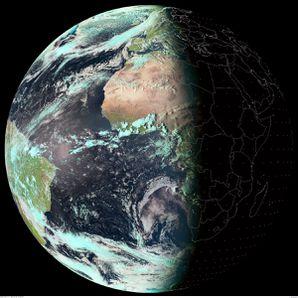 Meteosat 10 - Equinoxe de printemps - 20 mars 2014 - 17h00