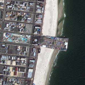 Geoeye 1 - Sandy - New Jersey - Seaside Heighs - 07-09-2010