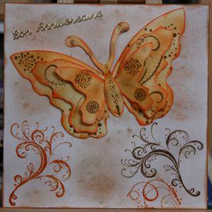 Carte anniversaire papillon