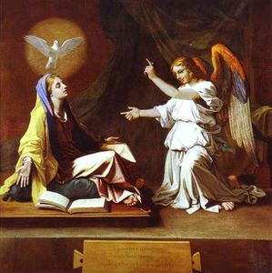jpg 1 Nicolas Poussin. The Annunciation. c.1655. Oil on can