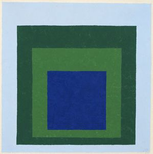Albers Josef Blue and green