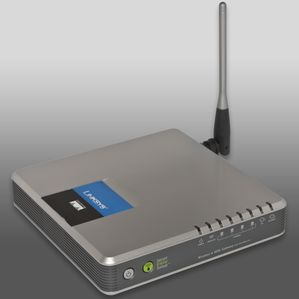 ADSL router with Wi-Fi (802.11 b-g)