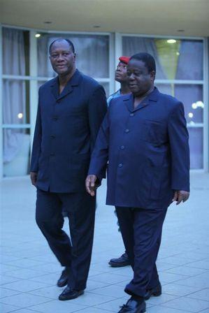 Ouattara et Konan Bédié