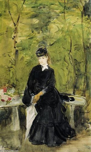 BERTHE-MORISOT-YOUNG-LADY-SEATED-ON-A-BENCH
