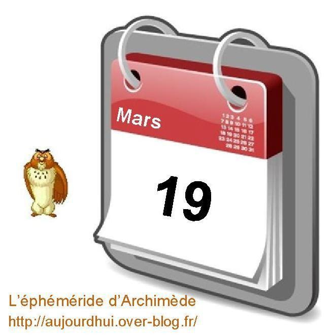 éphéméride 19 mars calendrier gratuit agenda jour dicton saint