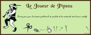pied piper banner - French - green - Lorna 4