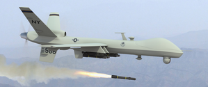 An MQ-9 Reaper hunter/killer drone US bombing with Hellfire Missiles - The Reaper is able to carry both precision-guided bombs and missiles US - Capture écran Image http://img228.imageshack.us/img228/1423/11891798.jpg
