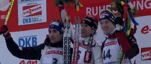 20km Men-Emil Hegle Svendsen, Martin Fourcade, Dominik Land