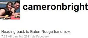 Cameron Bright tweeting about working @ Baton Rouge